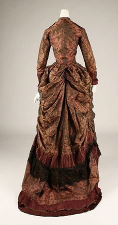 Dress   c.1877   (Back)  From The Metropolitan Museum Of Art