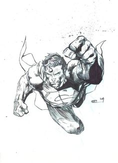 Superman Flying by Jim Lee -pencils, EEL -inks (co by eel-art on DeviantArt Comic Book Artists, Comic Book Characters, Comic Character, Comic Books Art, Comic Art, Batman Drawing, Drawing Superheroes, Superman Art, Superman Man Of Steel