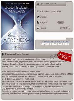 Livros e marcadores2: A Promessa - Uma Noite - Vol. 1 de Jodi Ellen Malp...