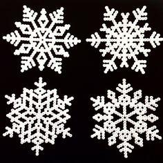 Winter snowflakes perler beads by sarasunivers