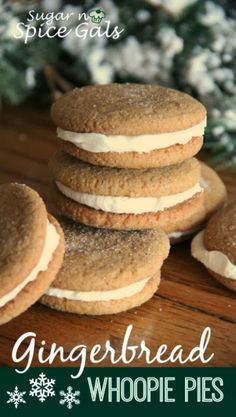 Gingerbread Whoopie Pies are easy to make and you'll love the yummy gingerbread!