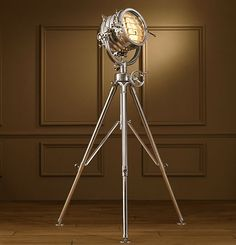 Royal Master Sealight Floor Lamp Transmit Morse code 19th-century style with this reproduction British marine light. Featuring a machine-turned gear mechanism & telescopic base, this floor lamp will lend the nautical theme without the cliche ship in a bottle.