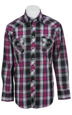 Panhandle Slim 90 Proof Men's Long Sleeve Western Snap Shirt V6S7221 Work Shirts, Jean Shirts, Denim Shirt, Western Shirts, Western Outfits, Western Wear, Man Wear, Cowboys Shirt, Country Boys