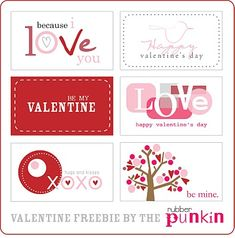 A great collection of Valentine's Day printables over at iheartnaptime