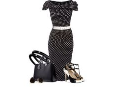 Polka dotted pinup dress.