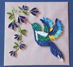 Free Shipping Feeding Humming Bird by AtheenaDecors on Etsy, $50.00