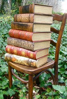 Beautiful old books, photographed so well outdoors among the ivy. Books Decor, Books Art, Old Books, Library Books, Antique Books, Vintage Books, Reading Books, Reading Chairs, Art Antique
