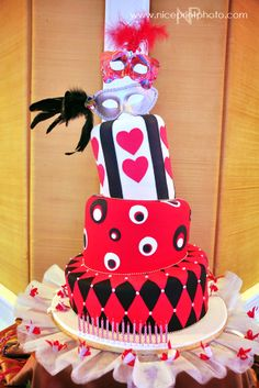 How about a birthday cake inspired by the Queen of Hearts?