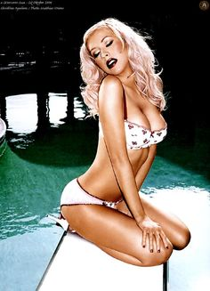 """I loved the va-va-voom """"pinup"""" look Christina Aguilera channeled a few years ago; she killed it."""