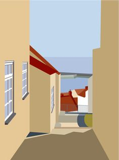 We have a large collection of prints from the Yorkshire Coast. Wall Art Prints, Poster Prints, Posters, Graphic Illustration, Graphic Art, Building Drawing, Minimal Photography, Cubism, Easy Paintings