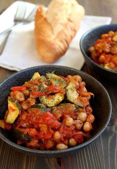 Roasted Chickpea Ratatouille - super simple summer recipe #vegan #glutenfree #summer | Frugal Nutrition