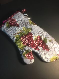 A personal favorite from my Etsy shop https://www.etsy.com/listing/531957069/wine-lovers-oven-mitt