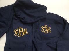 Monogrammed bridesmaid hoodies, gifts for bridesmaid embroidered personalized Monogram Hoodie, Monogram Initials, Teacher Tote Bags, Teacher Appreciation Gifts, Full Zip Hoodie, Hoodies, Sweatshirts, My Bags, Bridesmaid Gifts