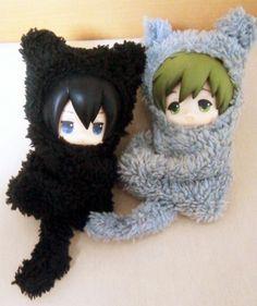 Cat suits! ...  Free! - Iwatobi Swim Club, free!, iwatobi, haruka nanase, haru nanase, haru, nanase, haruka, makoto, makoto tachibana, tachibana, figurine, cat suit