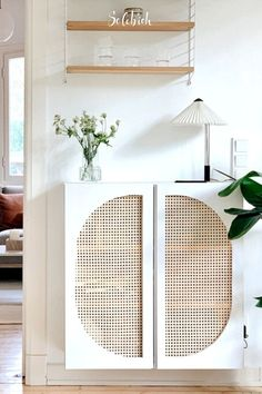 IKEA hack: prettify your IVAR cabinet in 5 steps! Rattan, Sweet Home, Home Upgrades, Home And Deco, My New Room, Home And Living, Decoration, Interior Inspiration, Diy Furniture