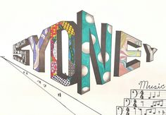 2 point perspective name portfolio 7th grade Art ed central  Wooley