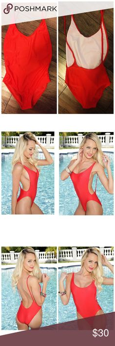 Red Hot Open Back Amiclubwear One Piece Bikini *NWT*  -Brand: Amiclubwear -Color: Red -Size: Large (fits more like a Small/Medium) -Did not fit my butt right, my butt is outrageously big. It should fit most women that wear a size S/M -Cheaper on Ⓜ️ -Don't forget to bundle!   Tags: Free People Top Shop Aeropostale Anthropologie H&M Forever 21 Fashion Nova American Apparel Urban Outfitters Pacsun Tillys Missguided Billabong American Eagle Hollister Abercrombie Aldo Nasty Gal Hot Topic Yandy…