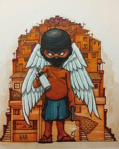 Graffiti Drawing, Graffiti Murals, Cool Art Drawings, Graffiti Lettering, Street Art Graffiti, Art Sketches, Graffiti Cartoons, Dope Cartoons, Graffiti Characters