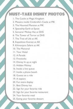 25 Must-Take Disney Photos