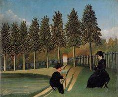 le artiste peinture sa femme - (Henri Rousseau)