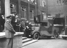 """Salvation Army mobile canteen - Donated by Citizens of Gananoque Thousand Islands, Ontario, Canada. """"Serving HM Forces"""""""