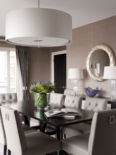 Knightsbridge Apartment Transformed From Basic Developer Finish To A Luxury  Chic International Apartment   Dining Area Interiors ©Taylor Howes Designs