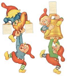 www.kravlenissernes-side.com kravlenisser11 Christmas Paper Crafts, Christmas Gnome, Christmas Decorations, Merry Happy, Scandinavian Countries, Paper Book, Vintage Paper Dolls, All Holidays, Christmas Printables