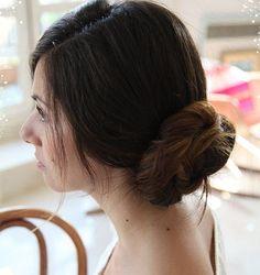 Classic Chignon Updo For Medium Length Hair