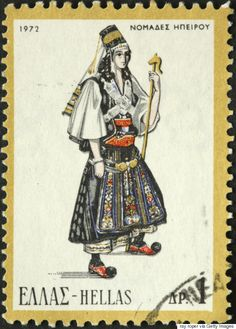 Traditional Costumes Worldwide - Stamp Community Forum - Page 3 Folk Costume, Costumes, Greek Traditional Dress, Stamp Collecting, My Stamp, Watercolor Illustration, Costume Design, Postage Stamps, Pure Products