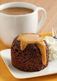 This dessert recipe can be made in the microwave in 5 minutes! You'll love these Chocolate Peanut Butter Mug Cakes.