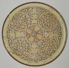 glass enameled + gilded plate, century, Mamluk Syria or Egypt Islamic World, Islamic Art, Art Essay, Geometric Decor, Geometric Patterns, 14th Century, Metropolitan Museum, Art And Architecture, Art History