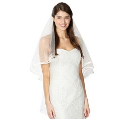 Pearce II Fionda Ivory ribbon trim veil- at Debenhams.com #HSamuelWinterWeddings