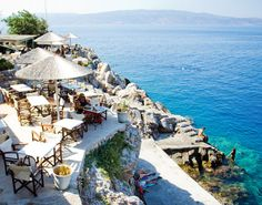 Hydra restaurant and swim spot - The Yatch Week, Greece