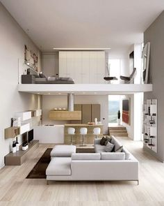 Some of the most successful decorators have a streamlined approach to decorating their homes. But what makes a successful home? Here are 33 of the most successful and popular Modern Minimalist bedroom design inspirations: Tiny House Loft, Best Tiny House, Tiny House Design, Tiny Houses, Tiny Loft, Loft Apartment Decorating, Apartment Layout, Apartment Design, Apartment Ideas