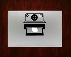 Polaroid Camera Instant Vintage mac Decals Stickers For Macbook 13 Pro Air Decal #RusticDecal