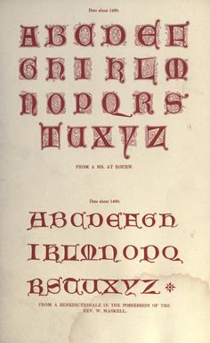 1856 - The hand book of mediaeval alphabets and devices - by  Henry Shaw 1800-1873