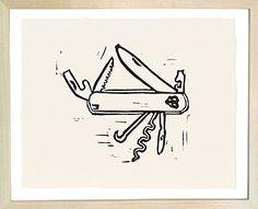 John Derian Art | Swiss Army Knife Print | Masculine Art | Man Room