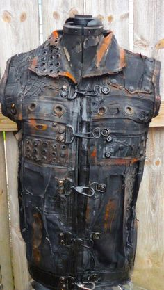 Post Apocalyptic Wasteland Raider Distressed vest by TheFaction, $125.00: