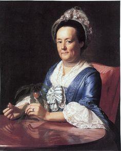 1773 John Singleton Copley (American colonial era artist, 1738-1815) Hannah Fayerweather (Mrs John Winthrop).