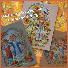 Autumn Fall Coloring Book Pages Party by PChristensenGallery