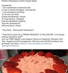 Phyllis' Strawberry Cotton Candy Salad