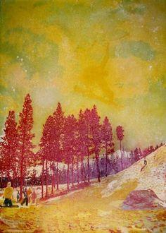 Peter Doig; Orange Sunshine  1995  Oil on Canvas  276 x 201cm
