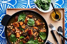 Full of hearty lentils and filling sweet potato, this warming vegan stew is perfect for chilly winter nights.