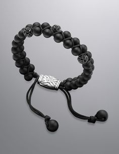 David Yurman Spiritual Bead Bracelet, Black Onyx, 6mm | DavidYurman.com