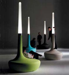 Outdoor seat/lamp by Welsh designer Ross Lovegrove