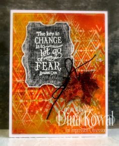 Mama Dini's Stamperia: Impression Obsession DT Challenge: Colors of Fall