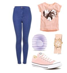 Untitled #16 by alica2003 on Polyvore featuring polyvore beauty Eos Michele Topshop Converse H&M