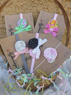 Rolled Fabric Hair Flower