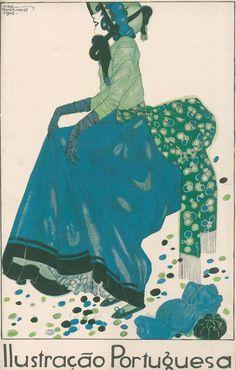 February 1922 - Ilustração Portuguesa cover by Jorge Barradas