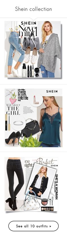 """""""Shein collection"""" by adelisa56 ❤ liked on Polyvore featuring shein, Kershaw, Yves Saint Laurent, WALL, Who What Wear, WithChic, Maybelline, Fountain, Wall Pops! and 7 For All Mankind"""
